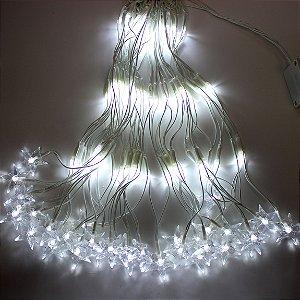 Cj 120 Lâmpadas LED Rede Estrela Branco