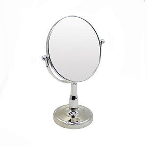 """Espelho c/ Pedestal Dupla Face 8"""""""