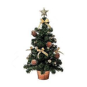 Árvore de Natal Decorada 78 Galhos 60cm