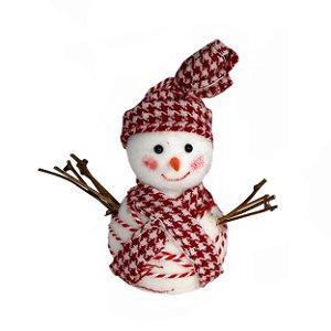 Pendente Boneco de Neve c/ Galhos
