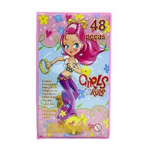 Kit Escolar 48 Peças Girls