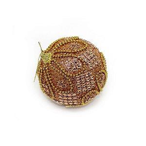 Bola Decorada Pedras e Glitter 10cm