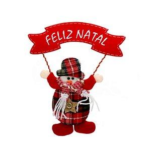 Enfeite Natalino c/ Placa