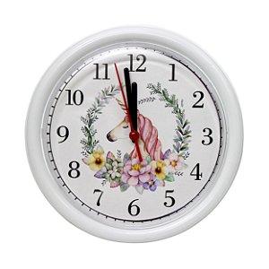 Relógio Unicórnio Branco