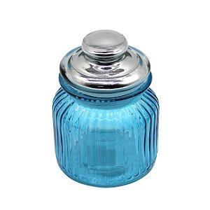 Boião de Vidro Azul