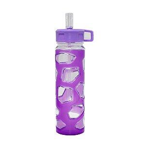 Garrafa de Plástico Roxa 700ml
