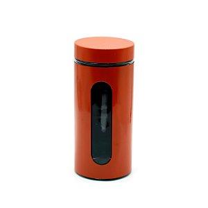 Porta Mantimento Inox Laranja 1,3L