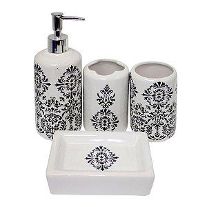 Kit Banheiro 4 Peças Arabescos