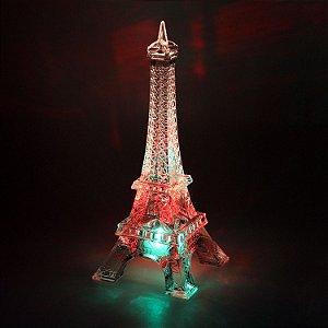 Torre Eiffel Acrílico com LED 18cm