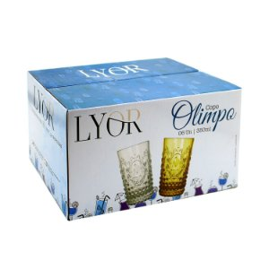 Cj 6 Copos Altos Olimpo 350ml