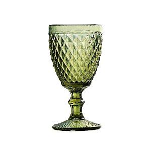Cj 6 Taças p/ Vinho Bico de Abacaxi Verde 210ml