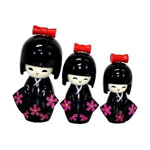 Bonecas Kokeshi Japonesa