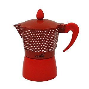 Cafeteira Tipo Italiana Vermelha com Bolinhas P/ 9 xícaras - 450ml
