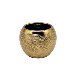 Vaso Cerâmica Bolonha Dourado