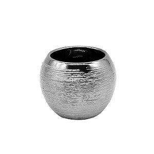 Vaso Cerâmica Bolonha Prata