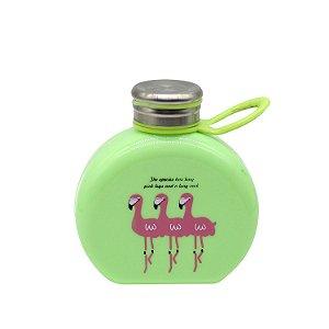 Garrafa de Flamingo Verde