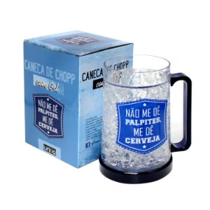 "Caneca Gel Chopp ""Palpites..."" 400ml"