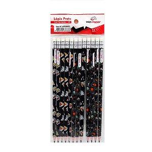 Lápis HB com Borracha 12 Peças - WPD00095