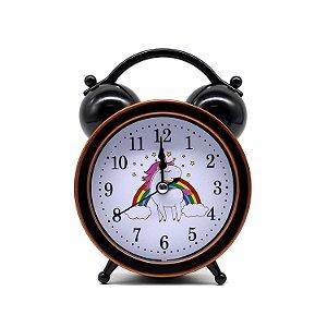 Relógio Despertador Unicórnio