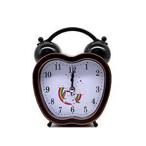 Relógio Despertador Unicórnio Maçã