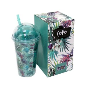 Copo Diamante Flores 500ml
