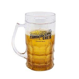 """Caneca Chopp """"Quando a Cerveja é Boa..."""" 500ml"""