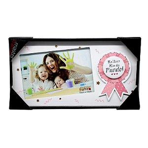 """Porta Retrato de Madeira 10x15 """"Melhor Mãe do Mundo!"""""""