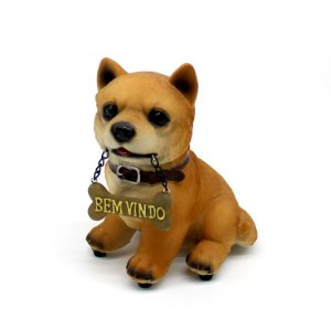 Resina Cachorro com Plaquinha - cod. 36492
