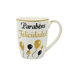 Caneca Porcelana Parabéns