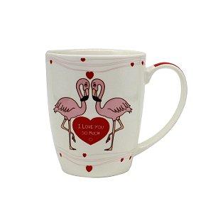 Caneca Porcelana Flamingo