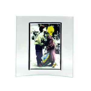 Porta Retrato de Vidro Vertical Curvo 10x15