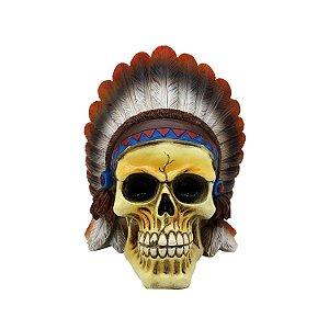 Caveira de Resina American Indian