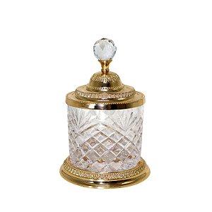 Pote Multiuso Cristal e Zamac Dourado 3799