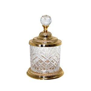 Pote Multiuso Cristal e Zamac Dourado 3800