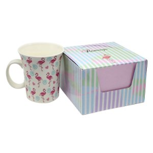 Caneca de Porcelana Flamingos 320ml