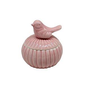 Porta Joias de Porcelana Pássaro