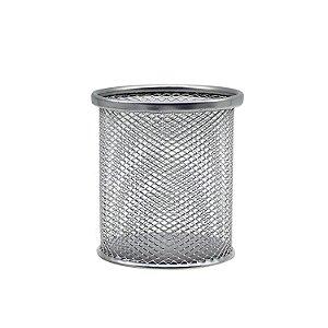 Porta Caneta de Metal Telado Redondo 10cm
