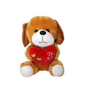 Cachorrinho de Pelúcia com Coração 20cm