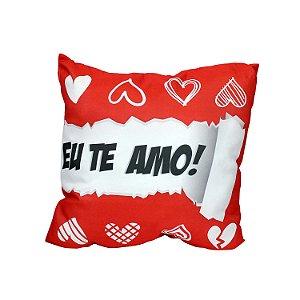 """Almofada """"Eu Te Amo!"""" 40x40"""