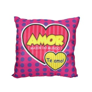 "Almofada ""Amor Maior do Mundo"" 40x40"