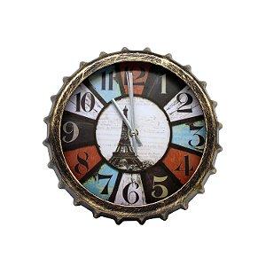 Relógio em Formato de Tampa de Garrafa 27cm