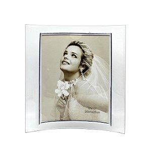 Porta Retrato de Vidro Curvo Vertical 20x25