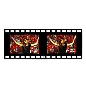 Porta Retrato de Vidro Filme 2 Fotos Horizontal 10x15
