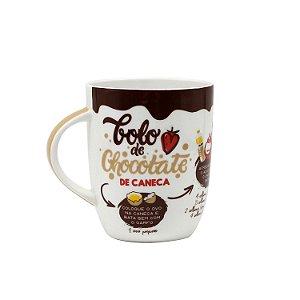 Caneca Receita Bolo de Chocolate 410ml