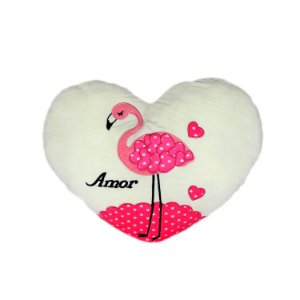 Almofada Coração Flamingo