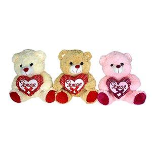 Urso de Pelúcia com Coração FE6803