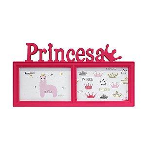 Porta Retrato Duplo Princesa