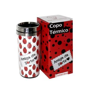 "Copo Térmico ""Amiga da Sorte"" 450ml"