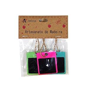 Porta Recado de Madeira - cod. A0545