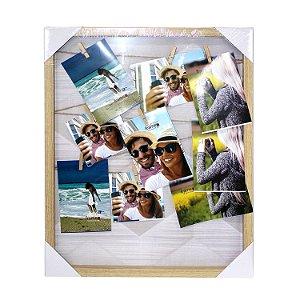Quadro Varal de Fotos 50x40